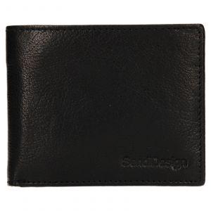 Pánská kožená peněženka SendiDesign Igor – černá