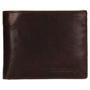 Pánská kožená peněženka SendiDesign Igor – hnědá