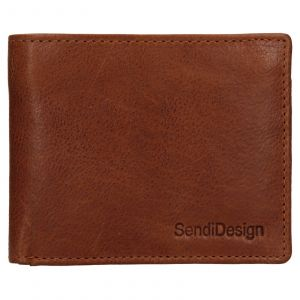 Pánská kožená peněženka SendiDesign Igor – koňak