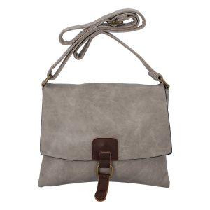 Dámská crossbody kabelka pískově šedá – Paolo Bags Jostein šedá
