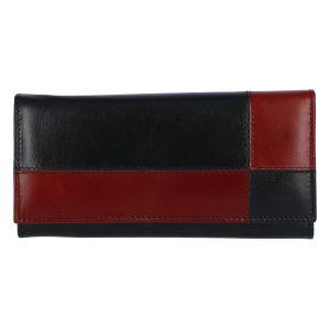 Dámská kožená peněženka černo červená – Tomas Farbe černá