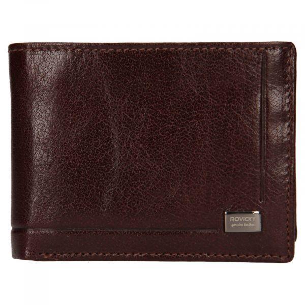 Pánská kožená peněženka Rovicky Kamil – hnědá