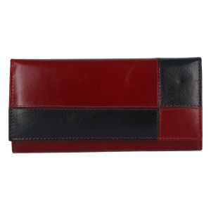 Dámská kožená peněženka červeno černá – Tomas Farbe červená