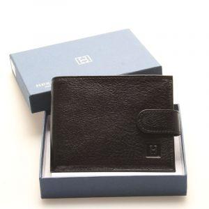 Luxusní pánská černá kožená peněženka – Hexagona Hestia černá