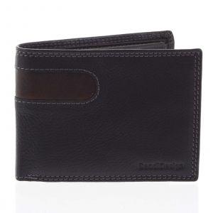 Pánská kožená peněženka tenká černá – SendiDesign Elohi černá
