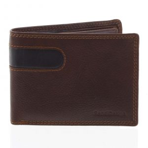 Pánská kožená peněženka tenká hnědá – SendiDesign Elohi hnědá