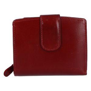 Dámská kožená peněženka tmavě červená – Tomas Coulenzy červená