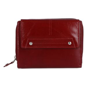 Dámská kožená peněženka tmavě červená – Tomas Oraigy červená