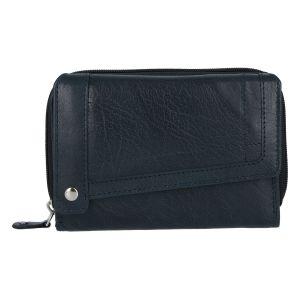 Dámská kožená peněženka tmavě modrá – Tomas Feisol tmavě modrá