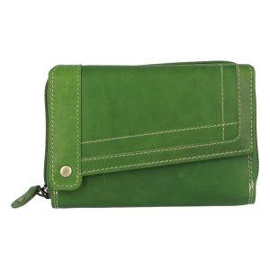 Dámská kožená peněženka zelená – Tomas Feisol zelená