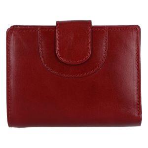 Elegantní kožená peněženka tmavě červená – Tomas Pilia červená