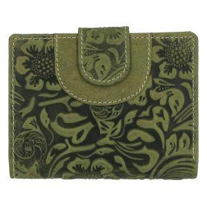 Elegantní kožená peněženka zelená se vzorem – Tomas Pilia zelená