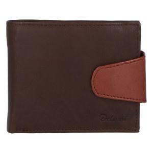 Pánská kožená peněženka tmavě hnědá – Delami 11816 hnědá