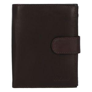 Pánská kožená tmavě hnědá peněženka se zápinkou – Delami Lunivers hnědá