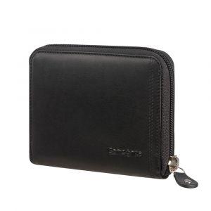 Samsonite Kožená peněženka na zip Attack 2 SLG 323 RFID – černá