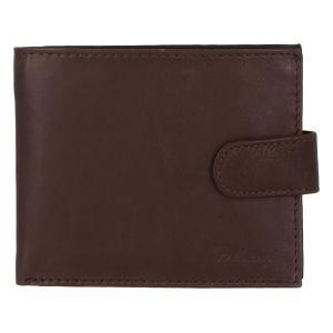 Pánská kožená hnědá peněženka – Delami 9371 hnědá