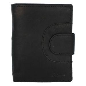 Elegantní pánská kožená černá peněženka – Delami Norm Duo černá