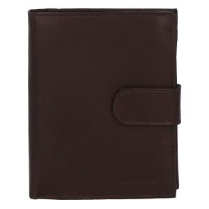 Pánská kožená tmavě hnědá peněženka se zápinkou – Delami Lunivers Duo hnědá