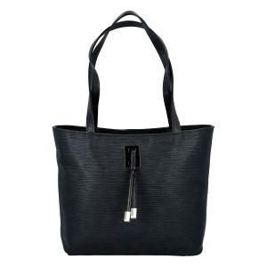 Velká černá vzorovaná dámská kabelka přes rameno – Ellis Huyen JR černá