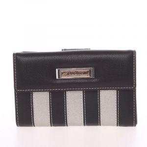 Dámská větší pruhovaná černá peněženka – Dudlin M378 černá