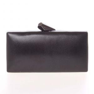 Exkluzivní dámské vzorované psaníčko černé – Delami L055 černá