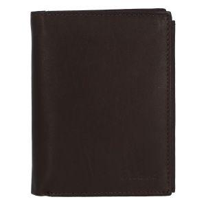 Módní pánská kožená tmavě hnědá peněženka – Delami Marquis hnědá