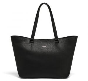 Lipault Dámská kožená kabelka přes rameno Invitation – černá