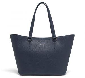 Lipault Dámská kožená kabelka přes rameno Invitation – tmavě modrá