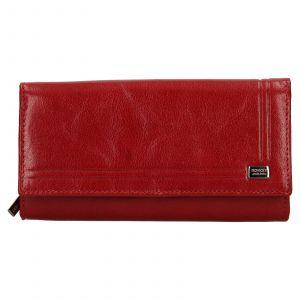 Dámská kožená peněženka Rovicky Federica – červená