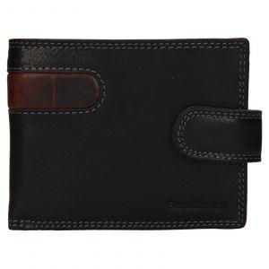 Pánská kožená peněženka SendiDesign Fion – černo-hnědá