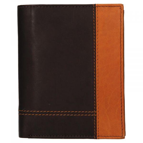 Pánská kožená peněženka Diviley Vilém – hnědá