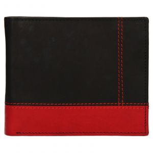 Pánská kožená peněženka Diviley Sileo – černo-červená