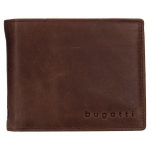Pánská kožená peněženka Bugatti Michael – tmavě hnědá