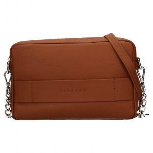 Trendy dámská kožená crossbody kabelka Facebag Ninas – koňak