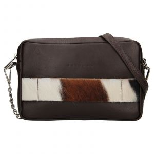 Trendy dámská kožená crossbody kabelka Facebag Ninas – černá (chlup)