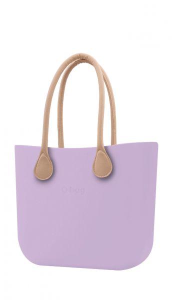 O bag kabelka Orchidea s dlouhými koženkovými držadly natural