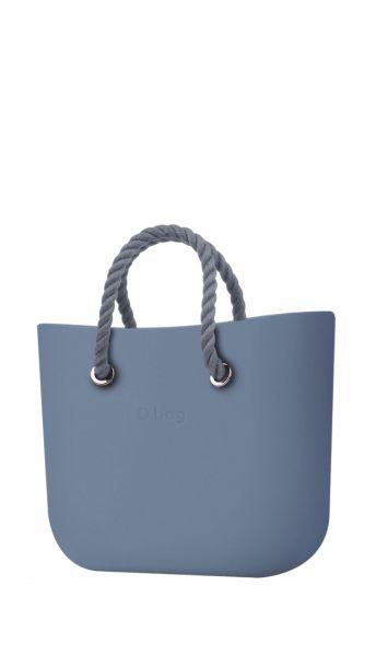 O bag kabelka MINI Carta Zucchero s šedými krátkými provazovými držadly