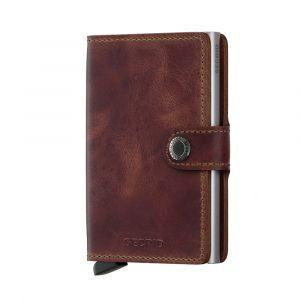 Secrid hnědé kožená peněženka Mini Wal