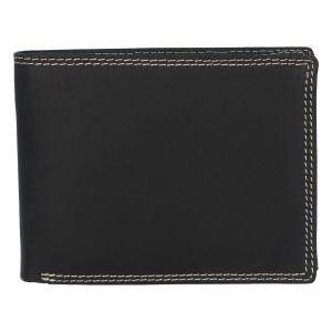 Kožená pánská černá peněženka broušená – ItParr černá