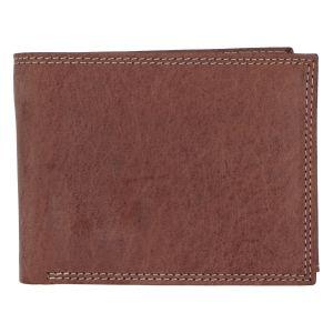 Kožená pánská hnědá peněženka broušená – ItParr hnědá