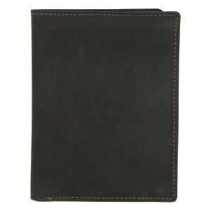 Pánská kožená peněženka černá broušená – Tomas Palac černá