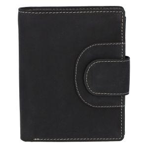 Elegantní kožená peněženka černá broušená – Tomas Pilia černá