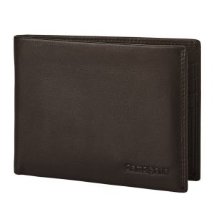 Samsonite Pánská kožená peněženka Attack 2 SLG 005 – tmavě hnědá