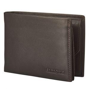 Samsonite Pánská kožená peněženka Attack 2 SLG 007 – tmavě hnědá