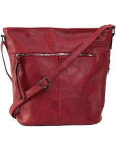 Tmavě červená dámská crossbody kabelka vel. univerzální 114479-406027