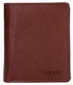 Lagen Pánská kožená peněženka 02310004 Brown
