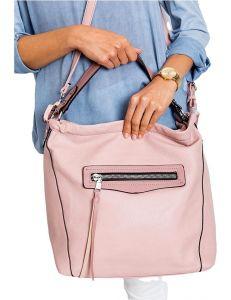 Růžová dámská shopper kabelka vel. univerzální 114657-406633