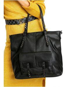 černá dámská shopper kabelka s kapsami vel. univerzální 114663-406639