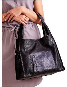 černá dámská shopper kabelka vel. univerzální 114667-406643