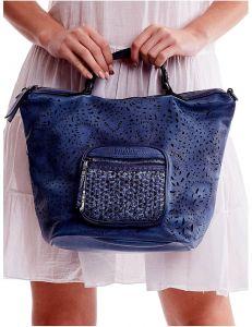 Tmavě modrá shopper kabelka vel. univerzální 114670-406646